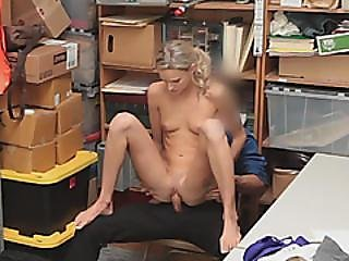 Blonde Teen Slut With Tattoos Deepthroated And Doggy Styled Inside The Office
