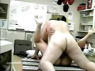 Mature Couple Fucking On An Office Desk