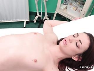Lesbian Doctor Licking Small Tits Teen