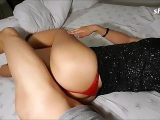 Guy Fucked By A Beauty, Big Ass, And Red Panties After A Party