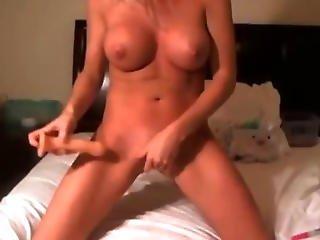 Hot Bikini Blonde Babe Plays Her Pink Dildo Hd