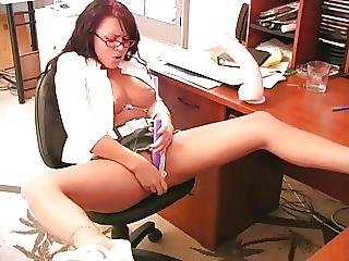 Babe At Desk