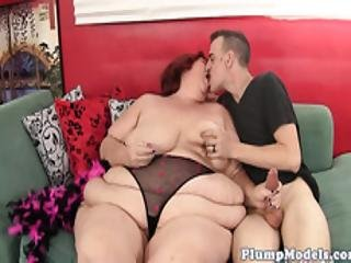 Redhead Bbw Granny Gets Doggystyled