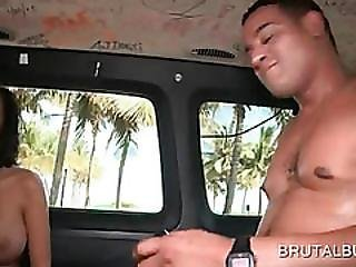 Busty Teen Eats Massive Shaft In The Sex Bus