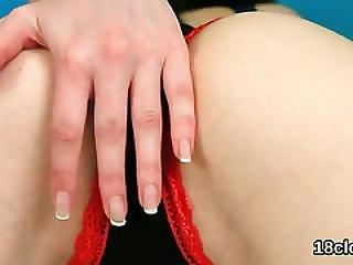 Zoom, Doigtage, Masturbation, Collants, Belle, étroite, Taillée