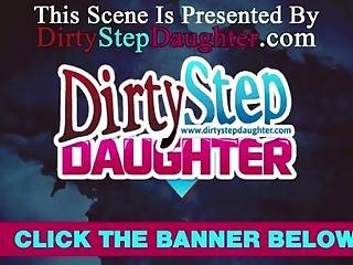 Lewd Stepdad Fucks Prettey Brunette Stepdaughter