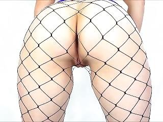 Miniskirt, Fishnets And My Bum