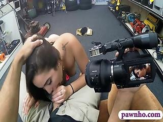 Sexy Amateur Lovely Coed Pounded By Horny Pawn Keeper