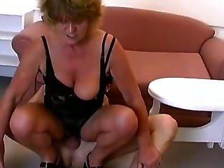 Horny Grandma Loves Riding Big Young