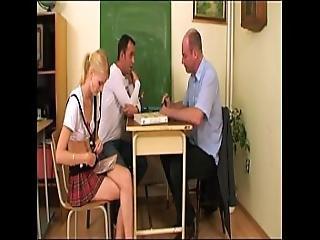Schoolgirl Screwed By Teacher And Classmate