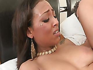 Astonishing Dark Haired Latina Is Getting Her Cherry Popped By Her Insatiable Lover