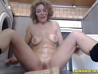 amatør, røv, blond, onani, matur, alene, lejetøj, webcam