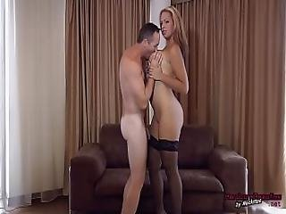 Big Beautiful Leila Strips Then Bj