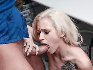 Teen Kiara Cole Grabs Lp Officers Huge Cock And Sucks It Then Fucks It