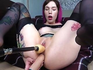 Schoolgirl Fuck All Holes Atm Double Penetration Fuck Machine Amateur