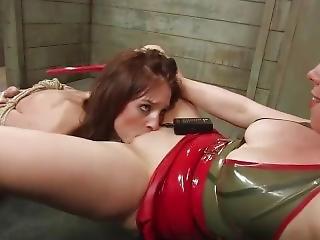 Slavegirl Licks Her Mistress' Pussy And Is Rewarded With Orgasm Denial