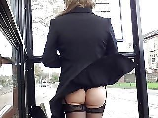 Windy Stockings Upskirt Face View