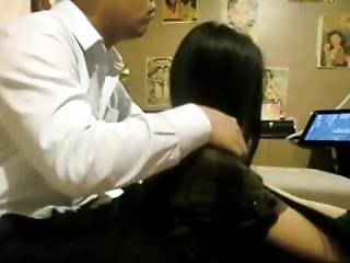 Amazing Chinese Couple From From Camskiwi.com Hairjob Action