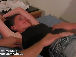 Bella Barbee Tickled Tied To A Bed