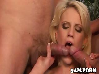 Petite Escort In Threeway Spitroasted