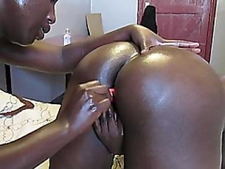afrikansk, amatør, rompe, stor rompe, svart, dildo, ebony, knulling, lesbisk, hore, leker