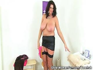 British Milf Lulu Lush Exposing Her Big Tits And Wet Pussy