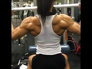 Female Back Muscle Growth After Workout