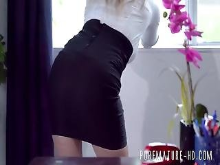 Voluptuous Blonde Secretary Having Hardcore Anal In The Office