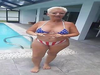 Grandma Teasing Long Hard Black Cock