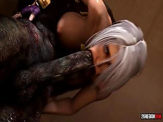 Ivy Valentine Fucked By A Huge Monster Cock