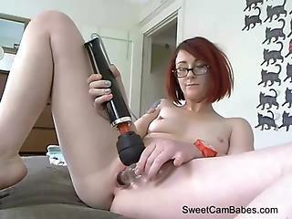 Petite Redhead Masturbating On Webcam