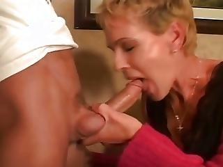 フェラチオ, 精液をショット, 年上の女性, 若い
