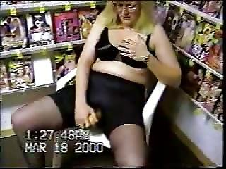 Milf Pumps Herself In A Video Store In Her Sixth Video