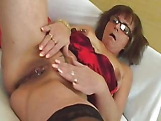 Granny In Corset Flashing Her Pierce Nipple And Tattoo Pussy
