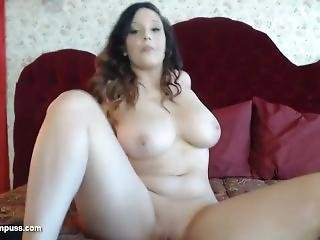 Chubby Teen With Big Tits Plays On Webcam