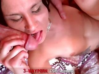 3-wayporn - Petite Tiny Chick Dped By 2 Dicks