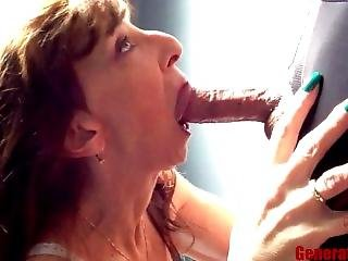 Petite Milf Blowjob Close Up Big Cock Swallow Keep Sucking