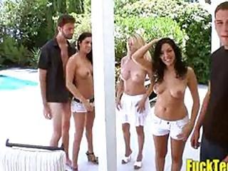 Angela Attison Kodi Gamble And Megan Foxx Seducing Guys To Fuck T