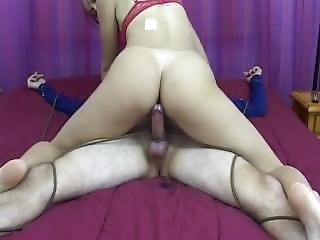 Mistress Abuses Male Slave By Milking Him