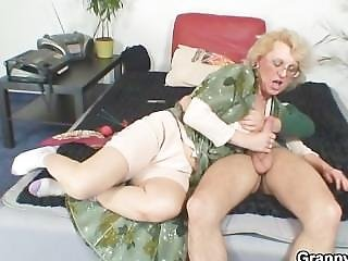 Naughty Grandma Gives Up Her Pussy