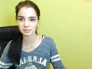 Bellissima, Masturbazione, Russa, Provocatoria, Adolescente, Webcam