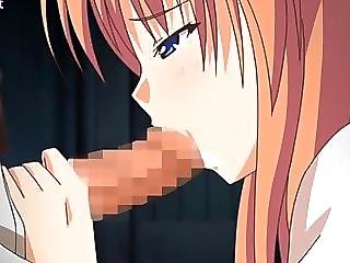 Sweet Anime Babe Gives Blowjob