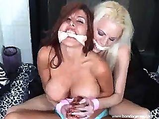 Two Chicks In Rope Bondage And Ball Gags