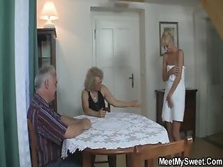 Blonde, Couple, Fucking, Mature, Mom, Old, Parents, Perverted, Teen, Threesome, Wife