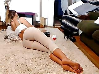 Long Legs Tights And Feet No Sound