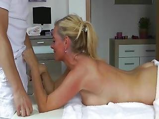 Masseur With Small Cock Trying To Fuck Shameless Busty Milf