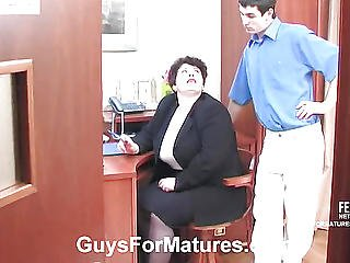 Full Aunt On Her Knees Sucking His Cock