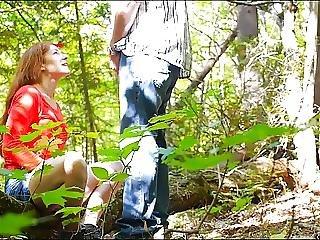 Blowjob, Forest, Milf