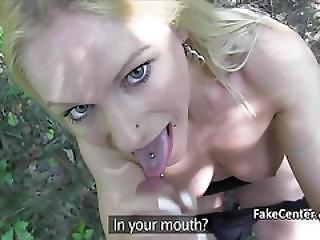 Blonde Italian Fucked Outdoors