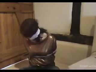 British Girl Wrap Gagged And Bound